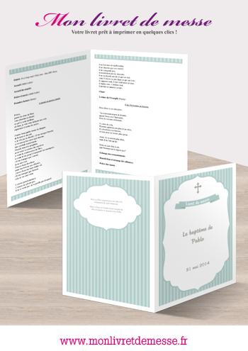 livret de baptme cocoon - Livret De Messe Mariage Word